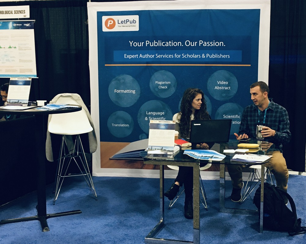 LetPub exhibits at the American Geophysical Union's Annual Fall Meeting